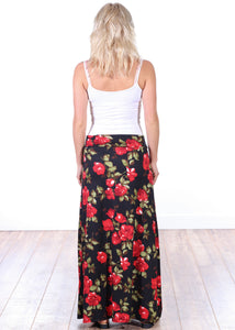 Comfortable Fold Over Maxi Skirt