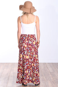 DT16 Comfortable Fold Over Maxi Skirt