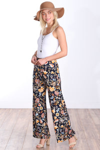 DT18 Fold Over Printed Palazzo Pants