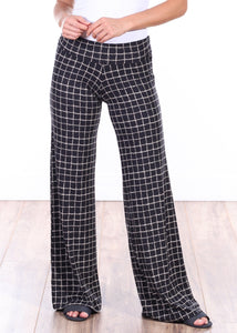 DT19 Fold Over Printed Palazzo Pants