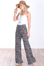 Load image into Gallery viewer, DT22 Fold Over Printed Palazzo Pants