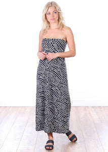 DT22 Comfortable Fold Over Maxi Skirt