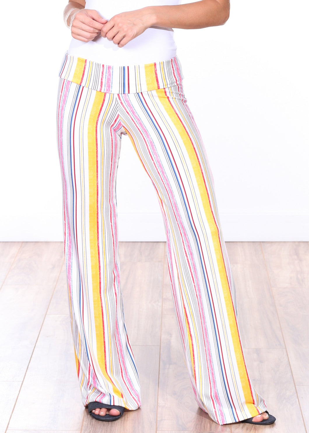 DT28 Fold Over Printed Palazzo Pants
