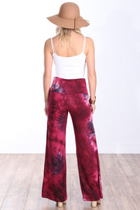 DT38 Fold Over Printed Palazzo Pants