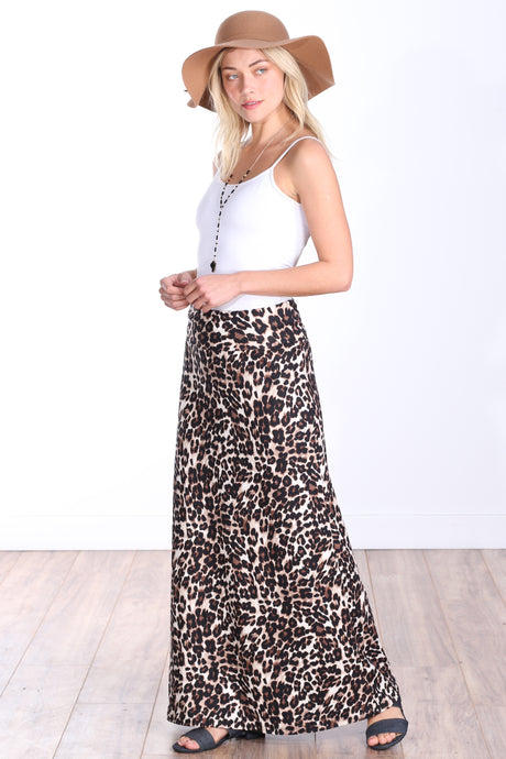 DT43 Comfortable Fold Over Maxi Skirt