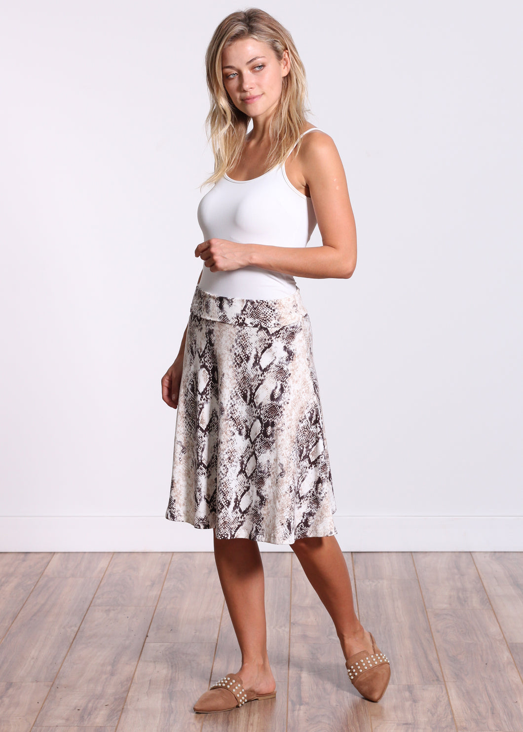 DT44 Fold Over Midi Skirt