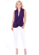 Load image into Gallery viewer, Criss Cross Sleeveless Drape Top