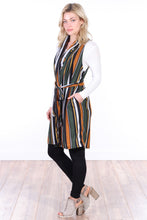 Load image into Gallery viewer, Long Sleeveless Cardigan Sweater with Pockets