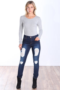 Casual Long Sleeve Bodysuit