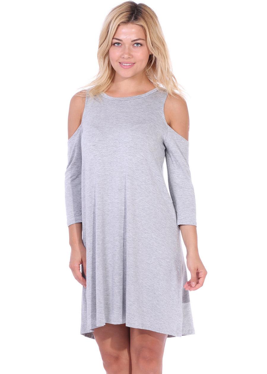 Cold Shoulder Shift Dress