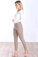 Load image into Gallery viewer, Khaki Mid Rise Ankle Pull On Pants