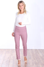 Load image into Gallery viewer, Mauve Mid Rise Ankle Pull On Pants