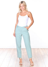 Load image into Gallery viewer, Mint Pull-on Cropped Trouser Pants