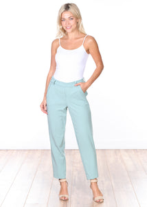 Mint Pull-on Cropped Trouser Pants