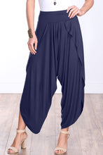 Load image into Gallery viewer, Navy Comfy Harem Pants