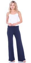 Load image into Gallery viewer, Navy Fold Over Palazzo Pants