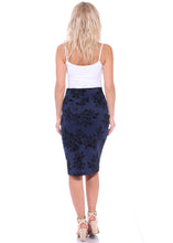 Load image into Gallery viewer, High Waist Floral Pencil Skirt