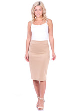Load image into Gallery viewer, High Waist Knee Length Pencil Skirt