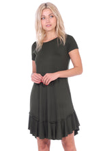 Load image into Gallery viewer, Short Sleeve Ruffle Hem Dress