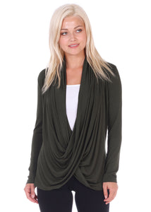 Criss Cross Drape Top