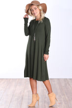 Load image into Gallery viewer, Long Sleeve Pocket Dress