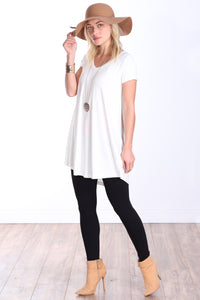 Pearl Short Sleeve Tunic Top