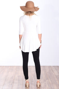 Pearl Three-Quarter Sleeve Tunic Top