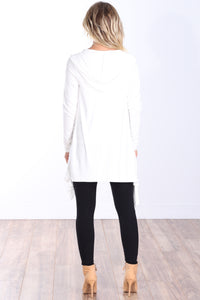 Pearl Long Sleeve Hooded Cardigan
