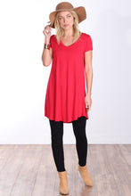 Load image into Gallery viewer, Short Sleeve Tunic Top