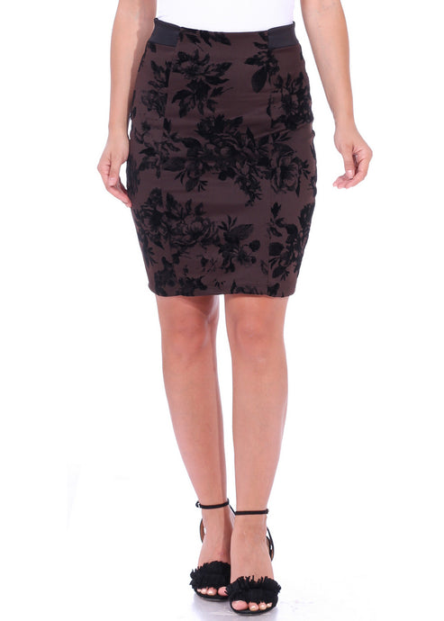 High Waist Knee Length Pencil Skirt