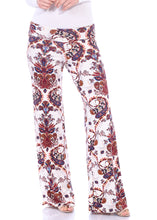 Load image into Gallery viewer, Fold Over Printed Palazzo Pants