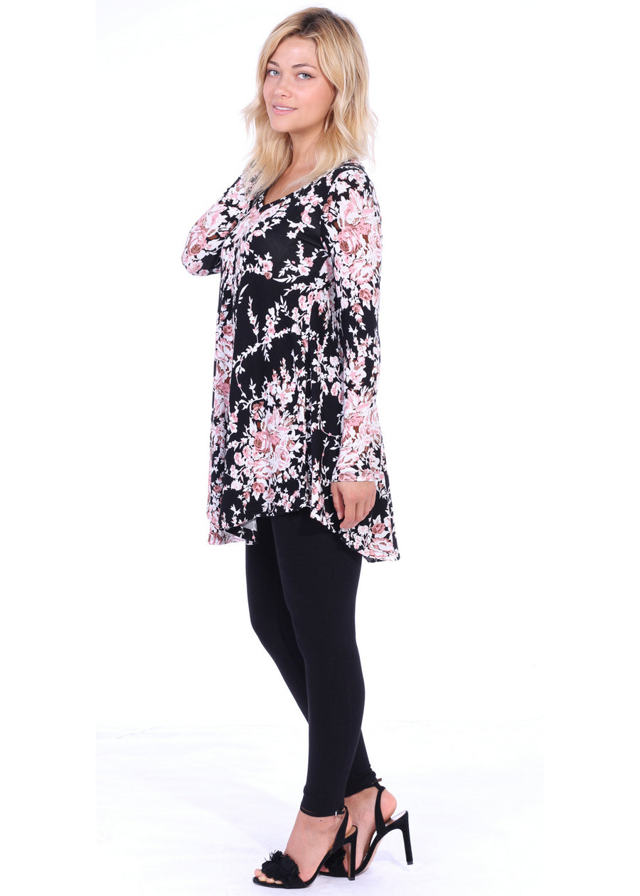 4a3f55bdb61 Long Sleeve Casual Vneck Tunic Top Wear With Leggings Jeans and ...