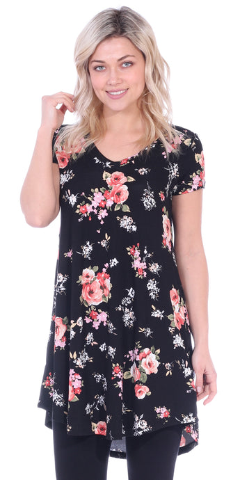 ST75 Printed Short Sleeve Tunic Top