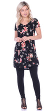 Load image into Gallery viewer, ST75 Printed Short Sleeve Tunic Top