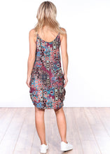 Load image into Gallery viewer, ST79 Side Slit Sleeveless Printed Dress