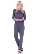 Load image into Gallery viewer, 3/4 Sleeve Solid Jumpsuit