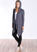 Load image into Gallery viewer, Slate Long Sleeve Hooded Cardigan