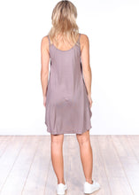 Load image into Gallery viewer, Toffee Side Slit Sleeveless Dress