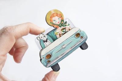Car Ride Brooch/Necklace
