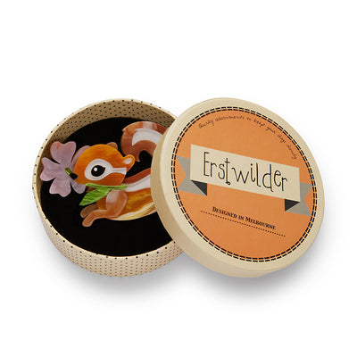 Erstwilder Chocolate Chipmunk Brooch