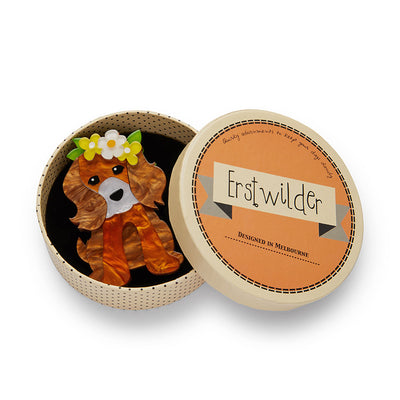 Erstwilder Puppy Love Brooch