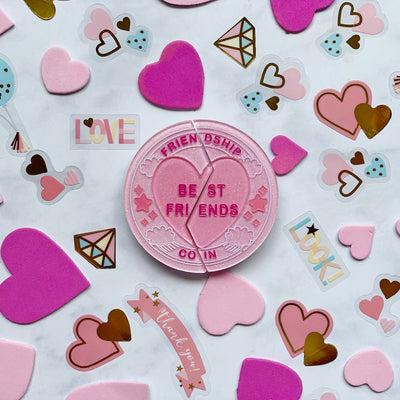 L.Y.L.A.S. Best Friends Brooch by Lipstick & Chrome