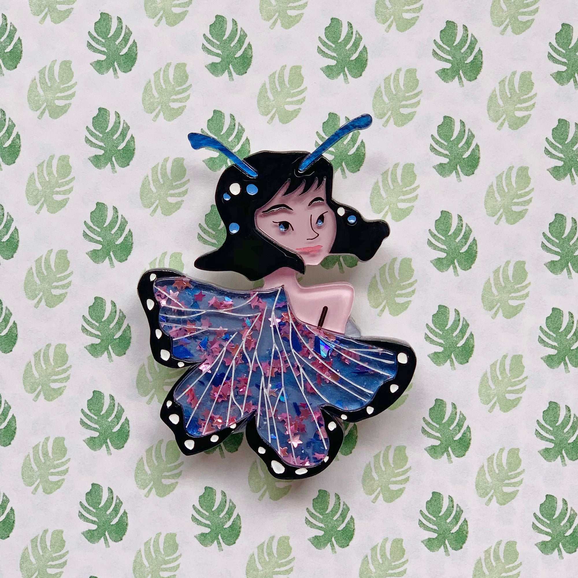 Starr the Butterfly Lady Brooch by SLB x Asma Original