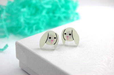 BekBek Makes Little Bunny Acrylic Earrings