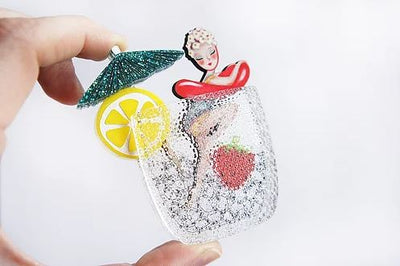 Cocktail Pin Up Brooch *Pre order for 10 May*