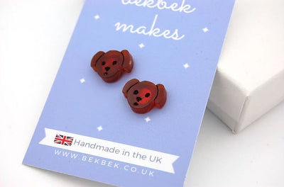 BekBek Makes Little Pup Acrylic Earrings