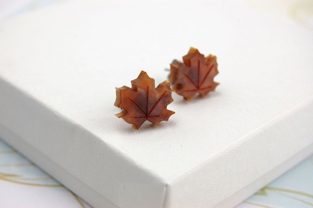 BekBek Makes Autumn Leaves Earrings