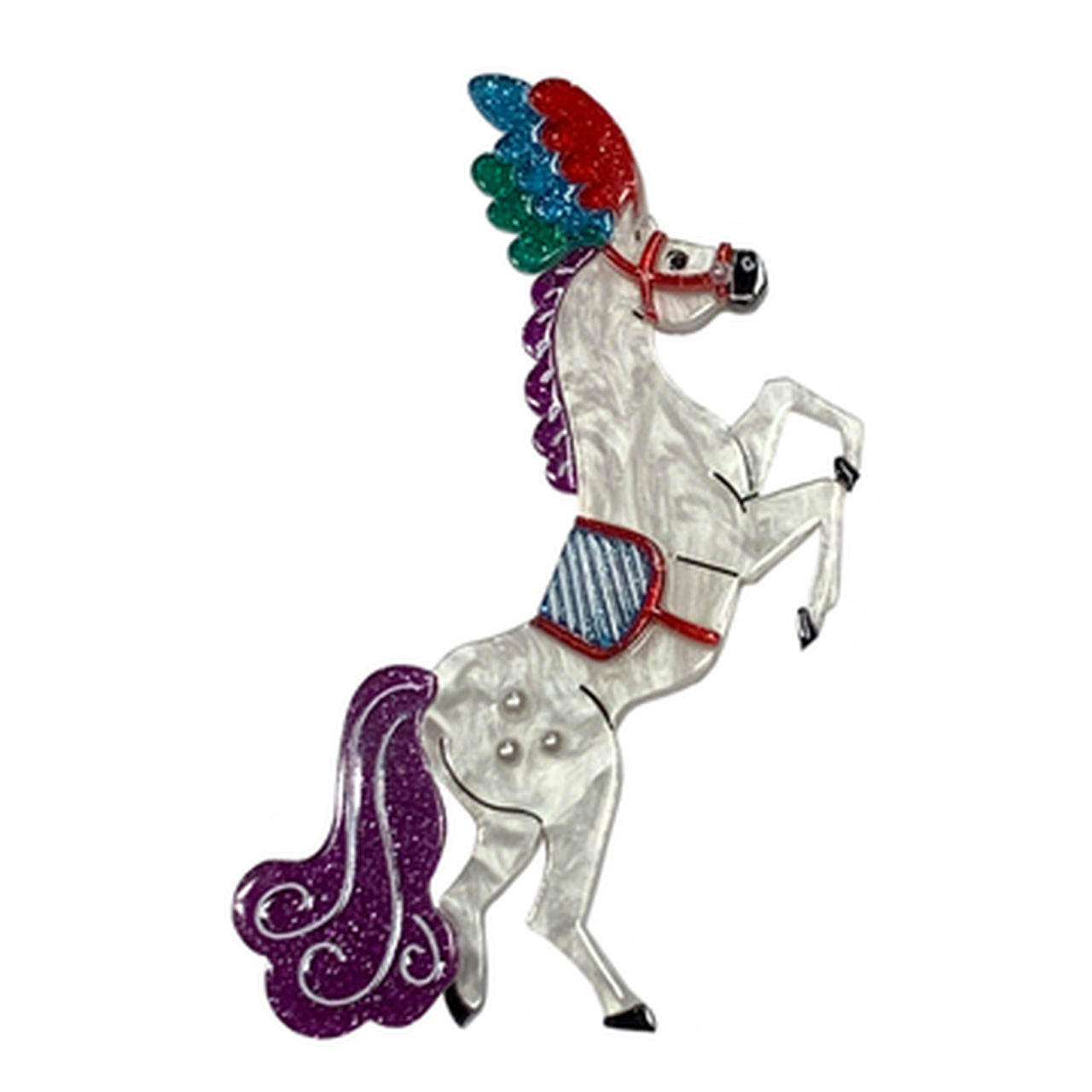 The Mane Event Circus Brooch by Lipstick & Chrome