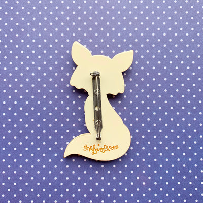 Delightful Mr Dhole Brooch (Blue Bow Tie)