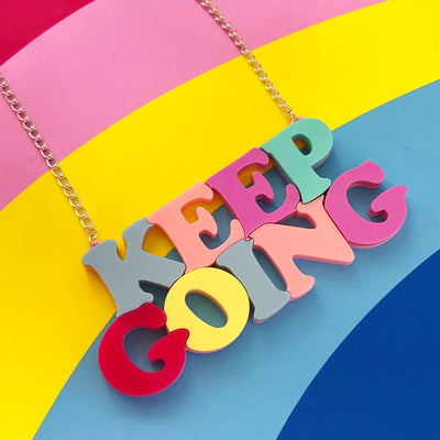 Little Pig Keep Going Necklace
